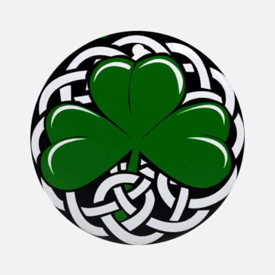 Celtic Shamrock Ornament (Round)
