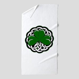 Celtic Shamrock Beach Towel