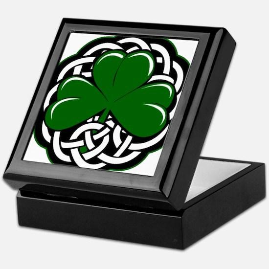 Celtic Shamrock Keepsake Box