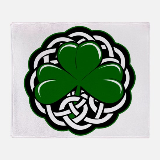 Celtic Shamrock Throw Blanket