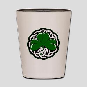 Celtic Shamrock Shot Glass