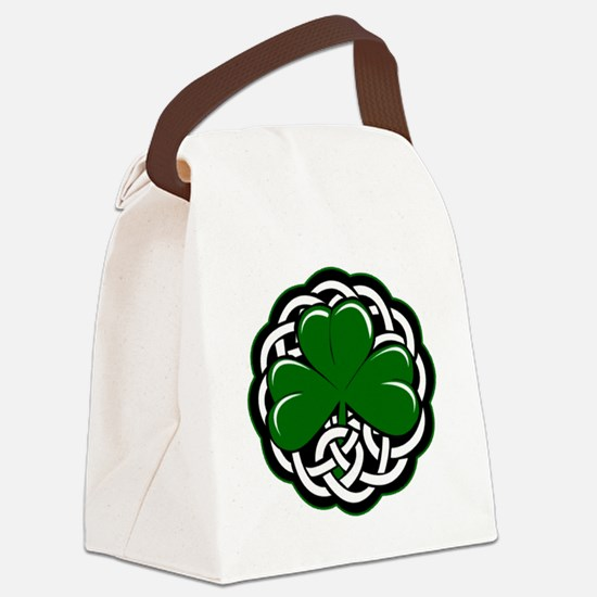 Celtic Shamrock Canvas Lunch Bag