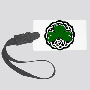 Celtic Shamrock Luggage Tag