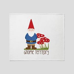 Gnome Territory Throw Blanket