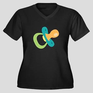 Infant Baby Pacifier Plus Size T-Shirt