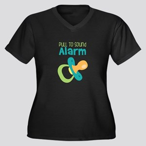 PULL TO SOUND ALARM Plus Size T-Shirt