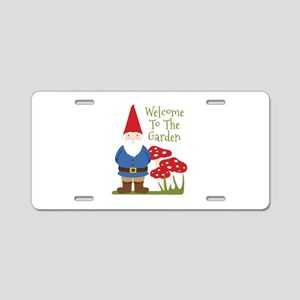 Welcome to the Garden Aluminum License Plate