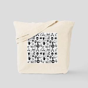 Heavy Metal Pattern Tote Bag