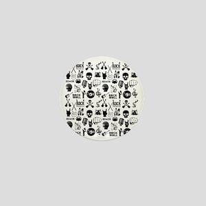 Heavy Metal Pattern Mini Button