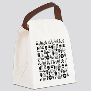 Heavy Metal Pattern Canvas Lunch Bag