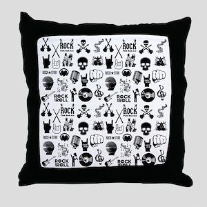 Heavy Metal Pattern Throw Pillow