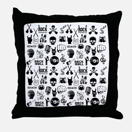 Heavy Metal Pattern Throw Pillow
