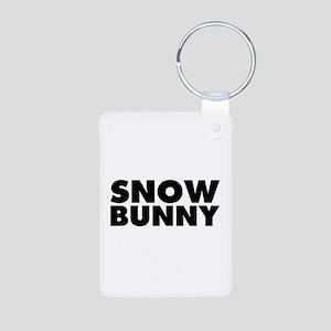 Snow Bunny Aluminum Photo Keychain