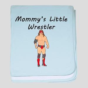 Mommys Little Wrestler baby blanket