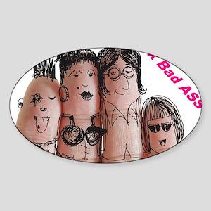 Finger Family Punk Sticker (Oval)
