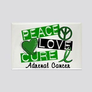 Peace Love Cure 1 Adrenal Cancer Rectangle Magnet