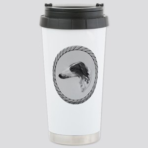 Vintage Borzoi Painting Stainless Steel Travel Mug
