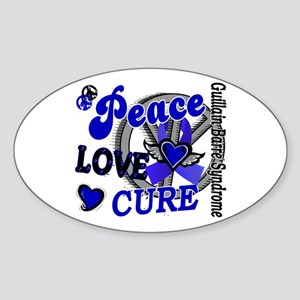 Peace Love Cure 2 GBS Sticker (Oval)