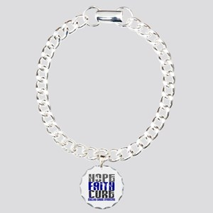 Hope Faith Cure GBS Charm Bracelet, One Charm