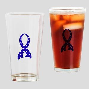 Polka Dot Ribbon GBS Drinking Glass