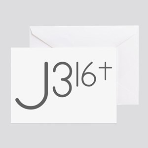 J316Typo Greeting Cards