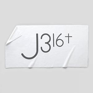 J316Typo Beach Towel