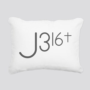 J316Typo Rectangular Canvas Pillow