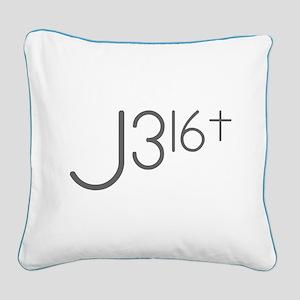 J316Typo Square Canvas Pillow