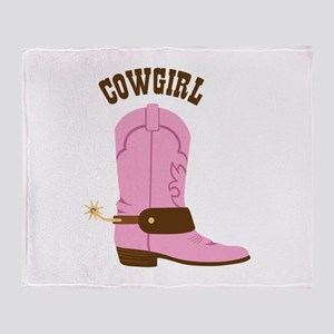 COWGIRL Throw Blanket