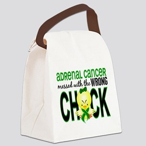 Messed With Wrong Chick 1 Adrenal Canvas Lunch Bag