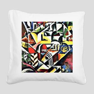 Cubist Cityscape - Liubov Pop Square Canvas Pillow