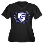 SCIL Women's Plus Size V-Neck Dark T-Shirt