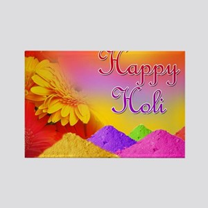 Happy Holi Rectangle Magnet