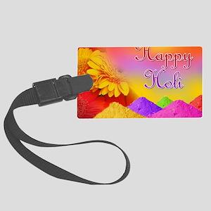 Happy Holi Large Luggage Tag