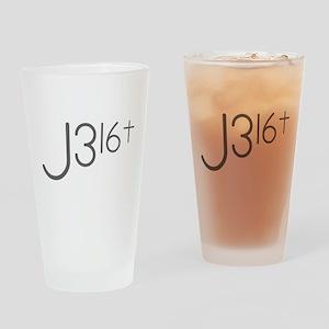 J316Typo Drinking Glass
