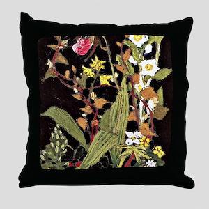 Tom Thomson - Orchids, Algonquin Park Throw Pillow