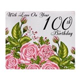 100th birthday Fleece Blankets