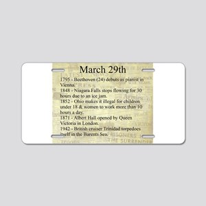 March 29th Aluminum License Plate