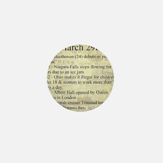 March 29th Mini Button (10 pack)