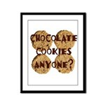 Chocolate Cookies Anyone? Framed Panel Print