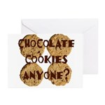 Chocolate Cookies Anyone? Greeting Cards (Package