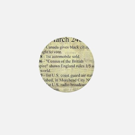 March 24th Mini Button