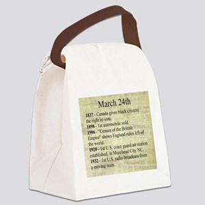 March 24th Canvas Lunch Bag