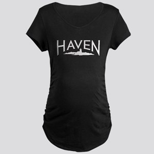 Haven logo (white) Maternity T-Shirt