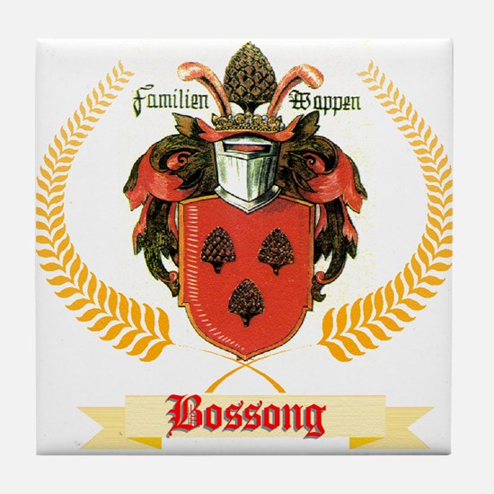 German Bossong Coat of Arms Tile Coaster