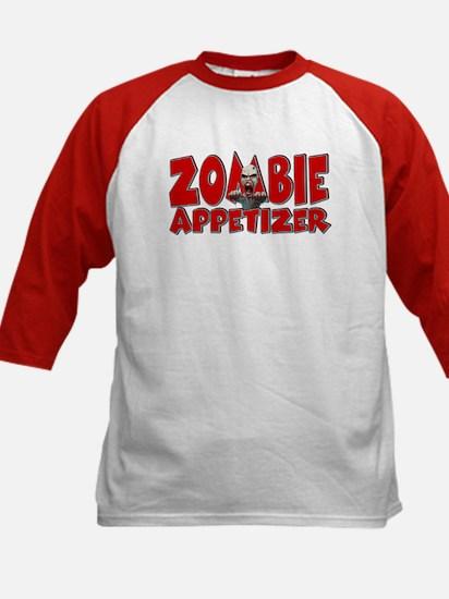 Zombie Appetizer Kids Baseball Jersey