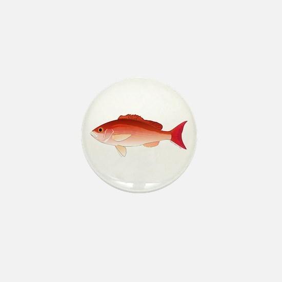 Vermilion Snapper Mini Button