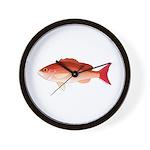 Vermilion Snapper Wall Clock