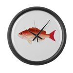 Vermilion Snapper Large Wall Clock