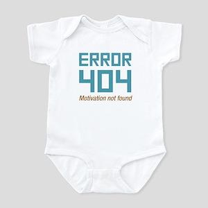Error 404 Motivation Infant Bodysuit